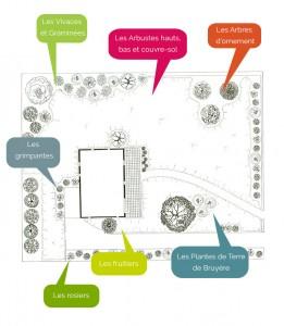 présentation d'un plan aménagement végétaux particuliers expos